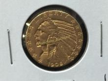 1909 O Indian Head $5 Gold Coin WOW!!!