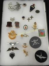 Mixed Lot Vintage Military Pins/Badges.