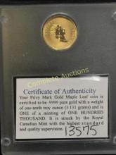 1/10th Pure Gold Special Issue Coin