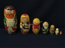 Matryoshka Doll Handpainted Family depiction