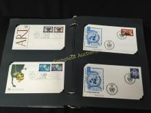 Stamps & Envelopes First Day Covers Binder Full