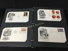 Stamps First Day Covers Collection Full Binder