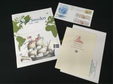 Lot of New Sweden First Issue Stamps