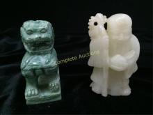 Lot (2) Vintage Carved Stone Incense Burners.