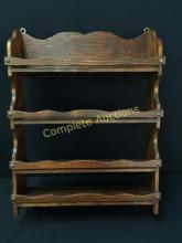 Vintage Wooden Hanging Shelves