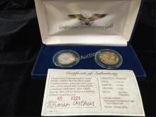 US Constitution Bicentennial Silver Coins in box