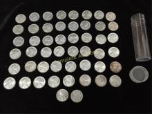 Roll of 1943 D Uncirculated Steel Pennies
