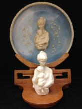 AVONDALE 1979 First Born Cameo Plate and Figurine on Stand. Numbered.
