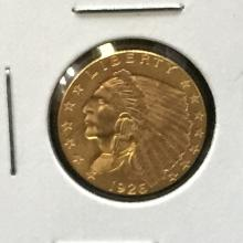 1926 Indiand Gold $2.50 Coin Nice!!!