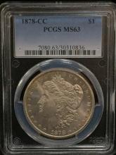 1878 CC Morgan Silver Dollar MS 63 RARE!!!!