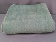 Antique STROOCK Carriage Robe. Reversible Green/Black.