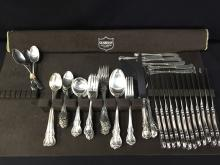 Towle Sterling Silver 72pc Flatware Set. 1942 Old Master Pattern.