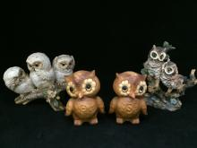 Lot of 3 Assorted Owls