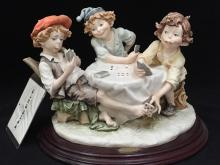 RARE!!! Florence Giuseppe Armani Figurine THE CHEATS-3 BOYS in box.