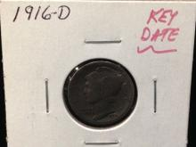 1916 D Mercury Dime KEY DATE ALERT!!!