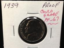 1939 Proof Jeffeson Nickel Wow!!!