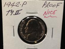 1942 P Proof Jefferson Nickel Ty II