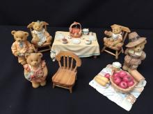 Lot of Cherished Teddies - Thanksgiving Theme