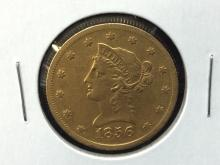 1856 S $10 Liberty Head Gold Coin Sweet