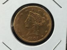 1901 S $10 Liberty Head Gold Coin WOW!!!