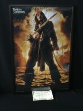 Autographed Movie Poster by Johnny Depp. COA.