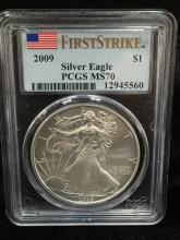 2009 Silver Eagle First Strike MS70 PCGS