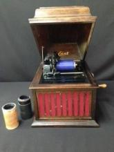 Edison Amberola Circa 1918 W/Cylinders