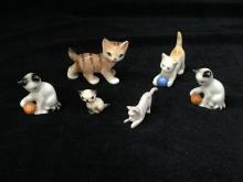 Mixed Lot of Small Cat Figures