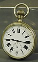 LARGE SIZE POCKET TYPE WATCH. Probably nickle