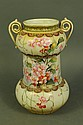 TWO HANDLED NIPPON HAND PAINTED VASE. With