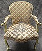 LOUIS XV STYLE PROVINCIAL STYLE ARMCHAIR.