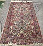 OLD PERSIAN KERMAN THROW RUG.  Ca. 1940.  Approx. 7'2