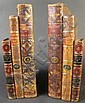 PAIR OF LEATHER BOUND BOOKFORM BOOKENDS.  9