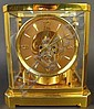 LE COULTRE ATMOS BRASS AND GLASS CLOCK.  15 jewel.  Swiss.