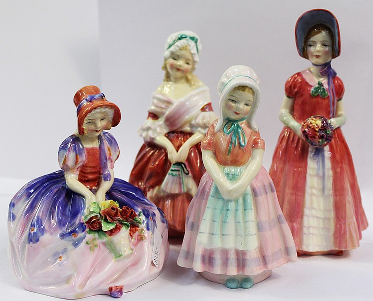 FOUR ASSORTED ROYAL DOULTON FIGURINES.