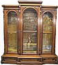 A GOOD LARGE VICTORIAN RENAISSANCE REVIVAL WALNUT