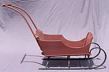 ANTIQUE CHILDS PUSH SLED.