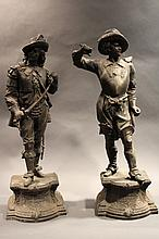 TWO SPELTER CAVALIERS. 20