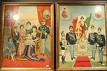 TWO NICELY FRAMED PRINTS OF ROYAL FAMILY.