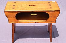 NICE HAND HEWN COBBLERS STOOL 20