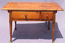 ANTIQUE TWO DRAWER STAND.