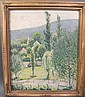 C.F. YETTER.  American School.  Impressionistic landscape.  Titled on back