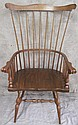 PENNSYLVANIA HOUSE FANBACK WINDSOR CHAIR.  Oak and Hickory with sumptuous proportions.