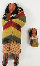 ORIGINAL SKOOKUM DOLL. With label: Squaw and