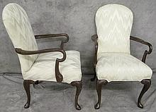 QUALITY PAIR OF MAHOGANY QUEEN ANNE STYLE OPEN