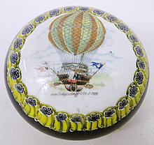 BALLOON ASCENTION PAPERWEIGHT. Marked in design