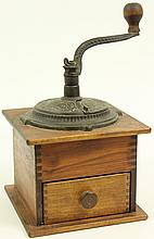 LAPTOP COFFEE GRINDER. With elaborate cast iron