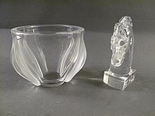 LALIQUE AND STEUBEN ACCENT GLASSWARE. Including