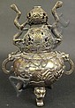 CHINESE EARLY MING STYLE BRONZE INCENSE BURNER.