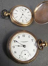 AMERICAN NATIONAL POCKETWATCH.  Together with a Waltham pocketwatch.  (Note:  bo